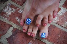2010 4TH OF JULY PEDICURE by Terry Style, via Flickr