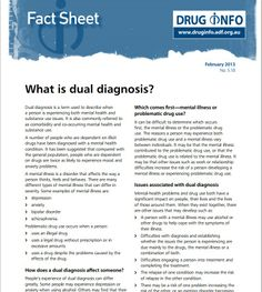 What is dual diagnosis? - factsheet about mental health and substance abuse issues - Australian Drug Foundation