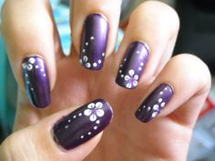 Purple Wedding Nail Designs | http nails design net wallpaper wedding nails with pearls w29 html