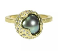 Todd Reed diamond and pearl ring