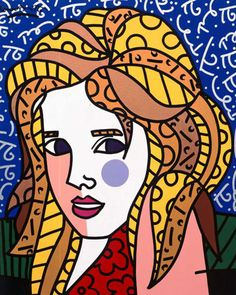 """Romero Britto's """"Ruby"""" 2002, 40"""" x 30""""Acrylic on Canvas. Learn more about Romero Britto and Florida (The Sunshine State) at: www.floridanest.com"""