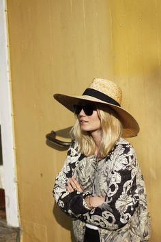 Summer hat and flower jacket   Josefin Dahlberg, May 2013