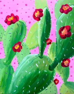 Learn to paint Cactus Fiesta