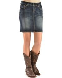 Miss Me Juniors' Flap Pocket Denim Skirt - Sheplers Cowgirl Outfits For Women, Cowgirl Style, Cowboy Boots, Denim Skirt, Riding Boots, Cute Outfits, Pocket, Clothes For Women, Skirts