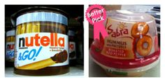 Healthy Grocery Swaps - Nutella vs Sabra (stronglikemycoffee.com)