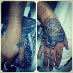 cover tattoo skull and gun tattoo '' tattoo artist by Murat GÜREL '' manisa dövme