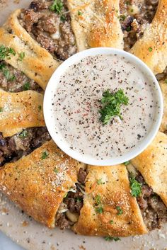 Sausage and Gravy Brunch Ring. Serve up a classic… with a twist! We've taken classic sausage and gravy and baked it into a golden brunch ring. Perfect for lazy Sunday mornings, this savory dish is great to share.