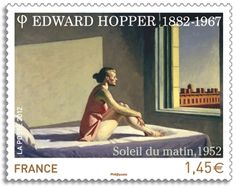 """Edward Hopper's """"Morning Sun"""" (1952) • issued by the French postal administration • 2012"""