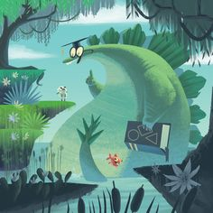 Fineas and the Dinosaurs - Children's book on Behance