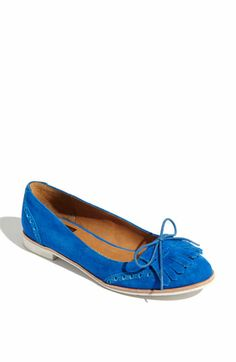 Blue Oxford Flats
