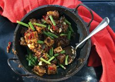 The recipe for this spicy, fried bean curd comes from Plenty (Chronicle Books, 2011) by Yotam Ottolenghi.