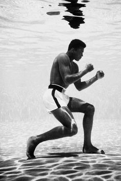 Mohammed Ali -  the greatest showman of his generation. Amazing athlete. Fantastic promoter of the sport.