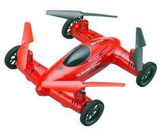 Flying Car , 2-in-1 RC Car and Quadcopter Drone , 1 Key Return , Bonus Battery (Double Flight Time) by Bo Toys -- Click image for more details.