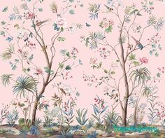 tapeta drzewa ptaki rośliny (1600PLN)  // wallpaper birds trees floral garden  //  http://tapetujemy.pl/p/636/28987/tapeta-wallquest-charleston-home-jb52202m-charleston-home-wallquest-tapety-dekoracyjne.html