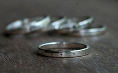 FRECKLES Sterling Silver Stacking Ring