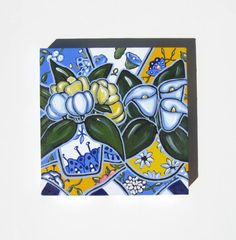 Blue and Yellow Still Life Painting  Original by BrookeHowie, $165.00