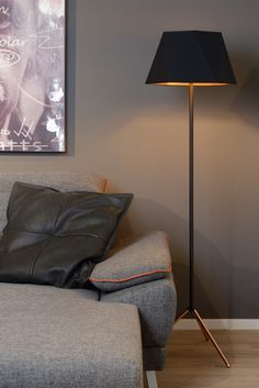 With a height of 146 centimetres, Alegro, with its contemporary design, is an eyecatcher in the living room. Diy Fireplace, Modern Fireplace, Living Room With Fireplace, Traditional Lamps, Lampe Decoration, Danish Design Store, Room Lamp, Contemporary Lamps, Contemporary Design