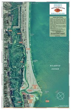 South Carolina: Pawleys Island (aerial photo) from Sealake Products LLC #fishing #fishingchart #nautical