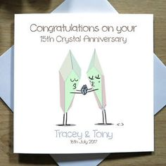 Available now. A beautifully handmade and personalised Anniversary Card. Designed and produced by TicketTwentyTwo x
