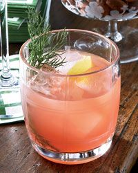 Campari-Fennel Aperitif.  Wood and light.  Other items in frame.