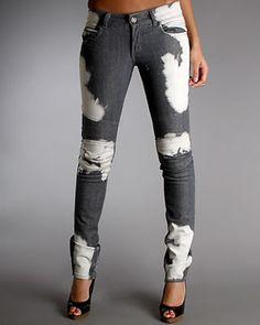 Bleached Skinny Jeans women-s-fashion