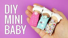 How to make mini baby for a barbie or miniature dollhouse. In this video tutorial i show how i made this cute miniature baby with miniature pacifier and baby...