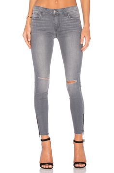 Joe's Jeans The Icon Ankle in Distressed Charcoal