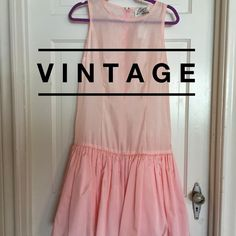 """☘Just In! Vintage Evenings by Paul Blanco Dress Vintage Evenings by Paul Blanco pink dress with tulle in bottom of skirt. Zipper closure back. Simply amazing. Excellent vintage condition. Looks brand-new.  bust: 19"""" measured flat across front. 37.5"""" long. Vintage Dresses"""