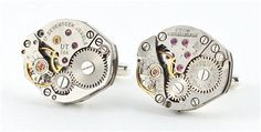 OwenAndFred.com: Watch Mechanism Cufflinks - Silver, $100.00