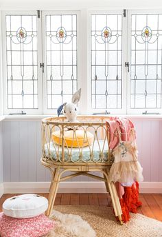 Baby bassinet - back in stock end FEB/early March Preorder now from Byron Bay Hanging Chairs Baby Bassinet, Baby Cribs, Nursery Room, Kids Bedroom, Nursery Themes, Boy Room, Nursery Ideas, Nursery Decor, Room Ideas