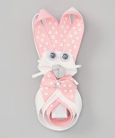 Take a look at this Light Pink Polka Dot Bunny Clip on zulily today!