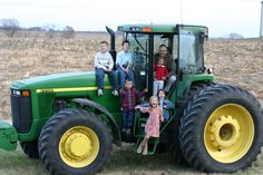 family photo mean at least one with gdaddy and the kids on a John Deere - justkristia
