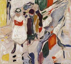 Edvard Munch, Children in the Street, 1915