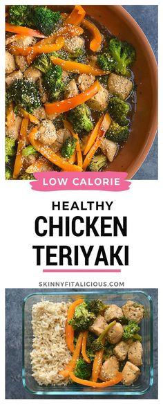 Healthy Chicken Teriyaki Broccoli is low-calorie and gluten-free! #healthy #chicken #teriyaki #broccoli #lowcalorie #glutenfree #meal Healthy Gluten Free Recipes, Healthy Eating Recipes, Healthy Chicken Recipes, Lunch Recipes, Healthy Options, Healthy Eats, Healthy Foods, Healthy Life, Diet Recipes