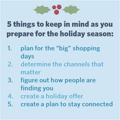Get ready for the #holidays with these 5 marketing tips