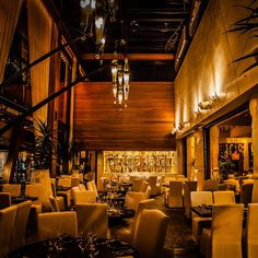 Explore beautiful restaurant chandeliers for inspiration in your own dining or living room. Lighting inspiration and ideas you can bring into your own space. Road Trip Map, Beautiful Dining Rooms, Custom Drapes, Restaurant Interior Design, California Style, Newport Beach, Looking Up, Family Room, Gallery