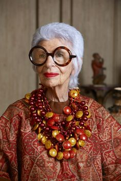 Iris Apfel; a true inspiration, in her signature statement jewellery