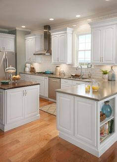 Grove Arch Maple Linen - traditional - kitchen cabinets - dc metro - Shenandoah Cabinetry