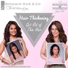 A #HealthyShinyHair is the pride of any woman around. Don't worry, if you are not blessed with it, Get advanced #HairThickeningTreatment at #BenjaminHairSalon in San Antonio. To get the voluminous hair, contact us to book an appointment.
