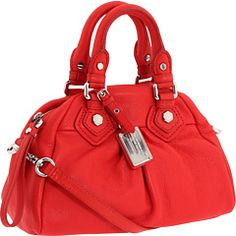 The past few year's I've bought myself ONE new, nice handbag.  This may be a contender for 2012-- because that's the perfect shade of red, and such a sweet shape.