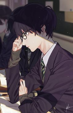Anime boy with glasses 🤓 handsome anime guys, cute anime guys, hot anime boy Garçon Anime Hot, Chica Anime Manga, Kawaii Anime, Manga Boy, Anime Boys, Cute Anime Guys, Fan Art Anime, Anime Nerd, Anime Guys Shirtless