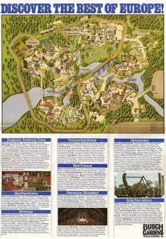 Busch Gardens Tampa S Theme Park Maps Pinterest - Bush gardens park map