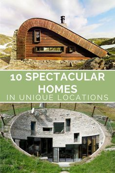 10 spectacular homes that you wouldn't see unless someone told you they were there - Love how some of these homes are hidden from view #uniquehomes #homeinspiration