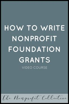 courses on grant writing