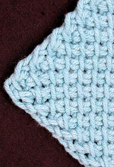 Ravelry: Symmetrical Tunisian Diamond 101 pattern by Vashti Braha