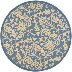 Perfect for any backyard, patio, deck or along the pool, this rug is great for outdoor use as well as any indoor use that requires an easy to maintain rug. This rug has a Blue background and displays stunning panel color of Natural.