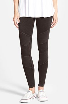 Sun & Shadow Texture Panel Leggings available at #Nordstrom