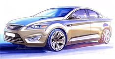 Ford Mondeo - Design Sketch by Andrea di Buduo