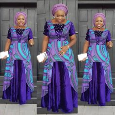 The right picture collection of 2018 latest ankara styles for ladies. Every woman deserves to rock the latest ankara styles of 2018 African Attire, African Wear, African Dress, African Lace, African Style, African Fashion Ankara, African Print Fashion, Ankara Gowns For Wedding, Ankara Short Gown Styles