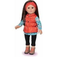 Outdoorsy Girl Doll 18 Inch Poseable Brunette with Rooted Hair My Life As Dolls  #MyLifeAs
